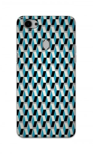 For Oppo F7 Printed Mobile Case Back Cover Pouch (Diamonds Pattern)