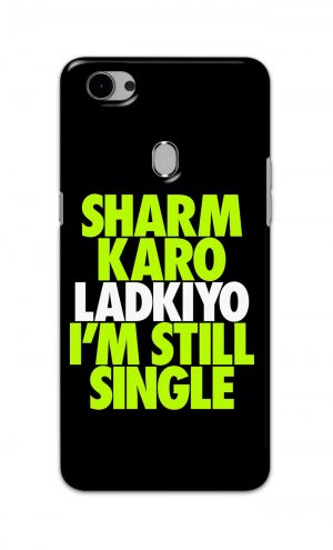 For Oppo F7 Youth Printed Mobile Case Back Cover Pouch (Sharm Karo Ladkiyon)