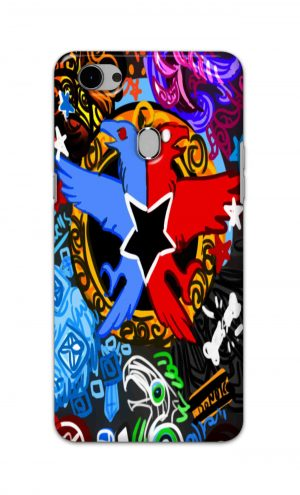 For Oppo F7 Printed Mobile Case Back Cover Pouch (Colorful Eagle)