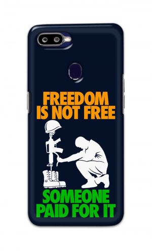 For Oppo F9 F9 Pro Printed Mobile Case Back Cover Pouch (Freedom Is Not Free)