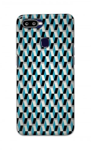 For Oppo F9 F9 Pro Printed Mobile Case Back Cover Pouch (Diamonds Pattern)