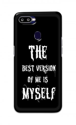 For Oppo F9 F9 Pro Printed Mobile Case Back Cover Pouch (The Best Version Of Me)