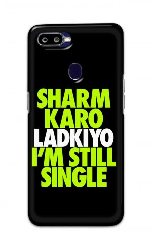 For Oppo F9 F9 Pro Printed Mobile Case Back Cover Pouch (Sharm Karo Ladkiyon)