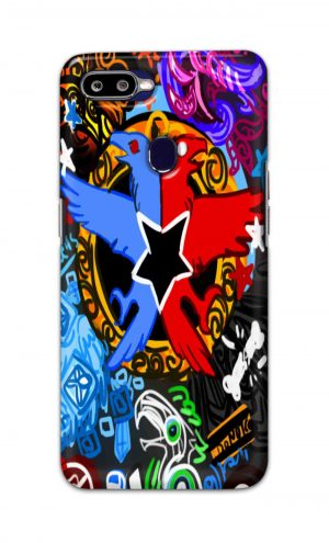 For Oppo F9 F9 Pro Printed Mobile Case Back Cover Pouch (Colorful Eagle)