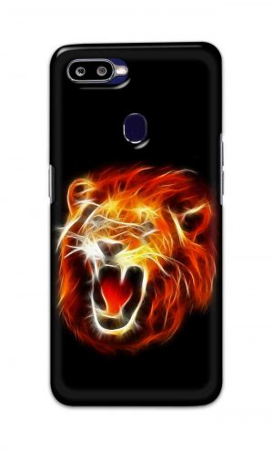 For Oppo F9 F9 Pro Printed Mobile Case Back Cover Pouch (Lion Fire)