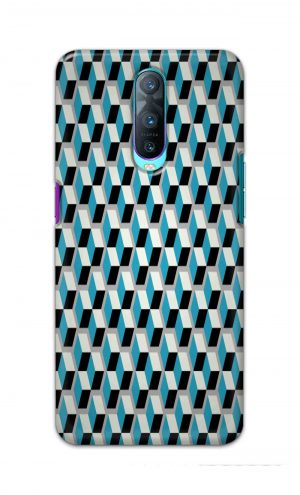 For Oppo R17 Pro Printed Mobile Case Back Cover Pouch (Diamonds Pattern)
