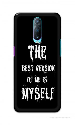 For Oppo R17 Pro Printed Mobile Case Back Cover Pouch (The Best Version Of Me)