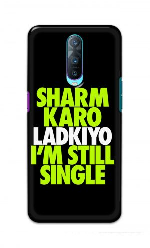 For Oppo R17 Pro Printed Mobile Case Back Cover Pouch (Sharm Karo Ladkiyon)