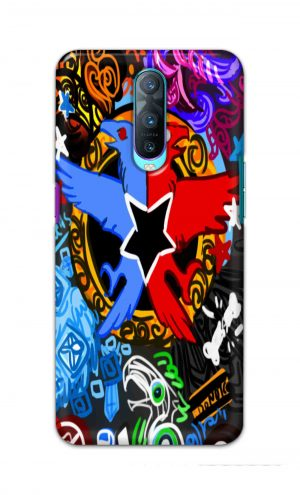 For Oppo R17 Pro Printed Mobile Case Back Cover Pouch (Colorful Eagle)
