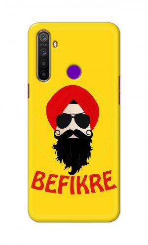 For Realme 5i Printed Mobile Case Back Cover Pouch (Sardar Ji Befikre)