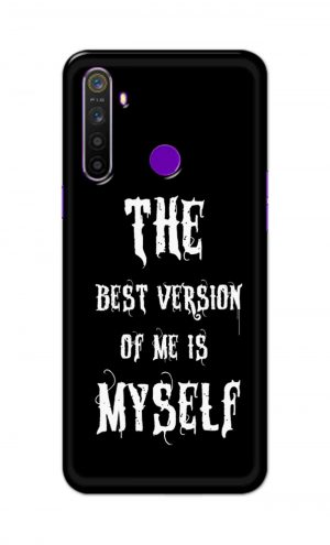 For Realme 5i Printed Mobile Case Back Cover Pouch (The Best Version Of Me)