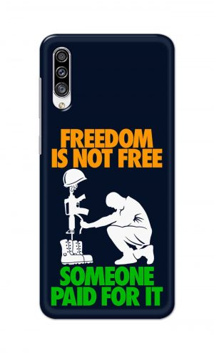 For Samsung Galaxy A30s Printed Mobile Case Back Cover Pouch (Freedom Is Not Free)