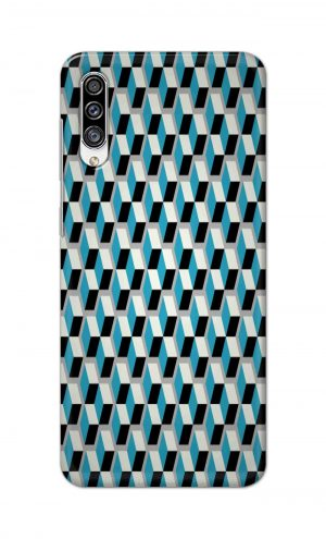 For Samsung Galaxy A30s Printed Mobile Case Back Cover Pouch (Diamonds Pattern)