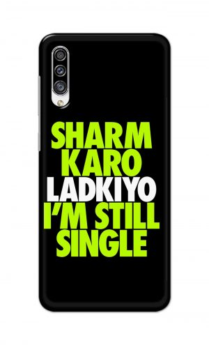 For Samsung Galaxy A30s Printed Mobile Case Back Cover Pouch (Sharm Karo Ladkiyon)