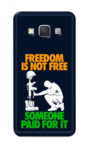 For Samsung Galaxy A5 2015 Printed Mobile Case Back Cover Pouch (Freedom Is Not Free)