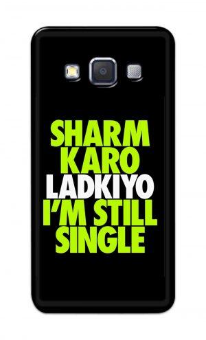 For Samsung Galaxy A5 2015 Printed Mobile Case Back Cover Pouch (Sharm Karo Ladkiyon)