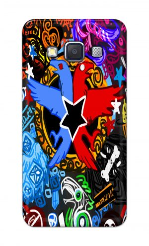For Samsung Galaxy A5 2015 Printed Mobile Case Back Cover Pouch (Colorful Eagle)
