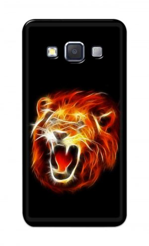 For Samsung Galaxy A5 2015 Printed Mobile Case Back Cover Pouch (Lion Fire)