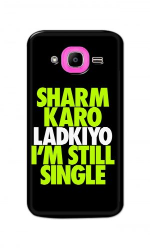 For Samsung Galaxy J2 Pro Printed Mobile Case Back Cover Pouch (Sharm Karo Ladkiyon)