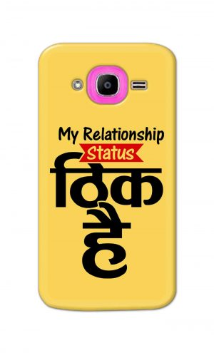 For Samsung Galaxy J2 Pro Printed Mobile Case Back Cover Pouch (My Relationship Status)