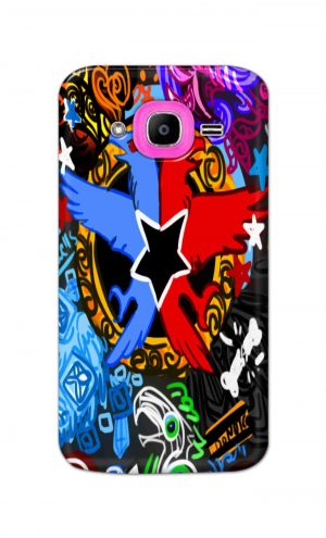 For Samsung Galaxy J2 Pro Printed Mobile Case Back Cover Pouch (Colorful Eagle)
