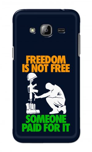 For Samsung Galaxy J3 Printed Mobile Case Back Cover Pouch (Freedom Is Not Free)