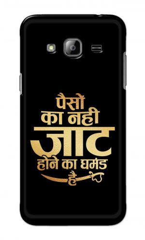 For Samsung Galaxy J3 Printed Mobile Case Back Cover Pouch (Paison Ka Nahi Jaat Hone Ka Ghamand Hai)
