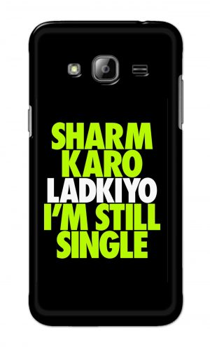 For Samsung Galaxy J3 Printed Mobile Case Back Cover Pouch (Sharm Karo Ladkiyon)