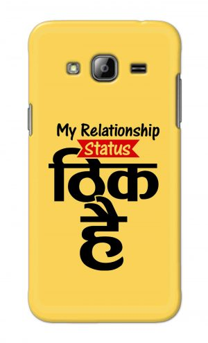 For Samsung Galaxy J3 Printed Mobile Case Back Cover Pouch (My Relationship Status)