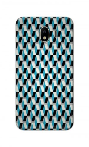 For Samsung Galaxy J4 Printed Mobile Case Back Cover Pouch (Diamonds Pattern)