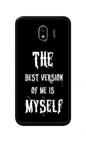 For Samsung Galaxy J4 Printed Mobile Case Back Cover Pouch (The Best Version Of Me)
