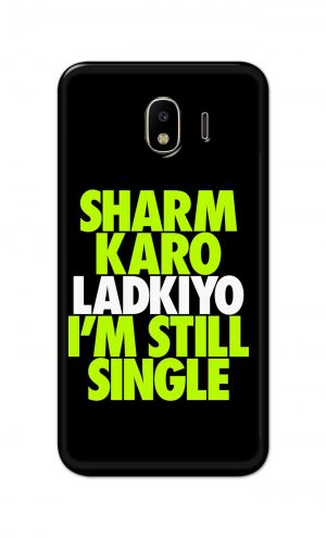 For Samsung Galaxy J4 Printed Mobile Case Back Cover Pouch (Sharm Karo Ladkiyon)