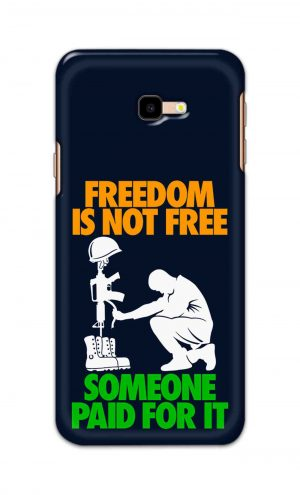 For Samsung Galaxy J4 Plus Printed Mobile Case Back Cover Pouch (Freedom Is Not Free)