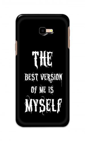 For Samsung Galaxy J4 Plus Printed Mobile Case Back Cover Pouch (The Best Version Of Me)