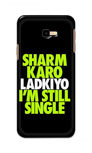 For Samsung Galaxy J4 Plus Printed Mobile Case Back Cover Pouch (Sharm Karo Ladkiyon)