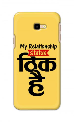 For Samsung Galaxy J4 Plus Printed Mobile Case Back Cover Pouch (My Relationship Status)