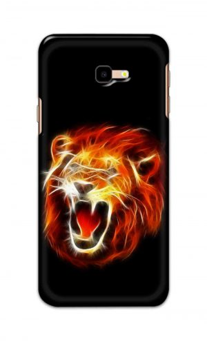 For Samsung Galaxy J4 Plus Printed Mobile Case Back Cover Pouch (Lion Fire)
