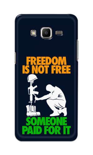 For Samsung J2 Printed Mobile Case Back Cover Pouch (Freedom Is Not Free)