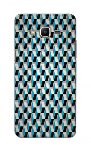 For Samsung J2 Printed Mobile Case Back Cover Pouch (Diamonds Pattern)