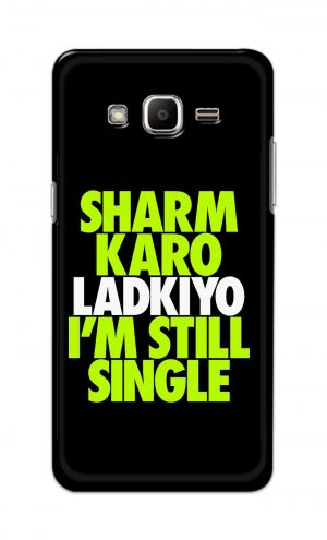 For Samsung J2 Printed Mobile Case Back Cover Pouch (Sharm Karo Ladkiyon)