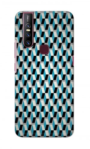 For Vivo V15 Ptinted Mobile Case Back Cover Pouch (Diamonds Pattern)