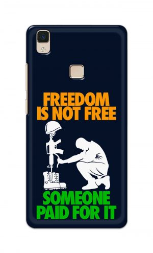 For Vivo V3 Ptinted Mobile Case Back Cover Pouch (Freedom Is Not Free)