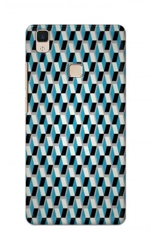 For Vivo V3 Ptinted Mobile Case Back Cover Pouch (Diamonds Pattern)