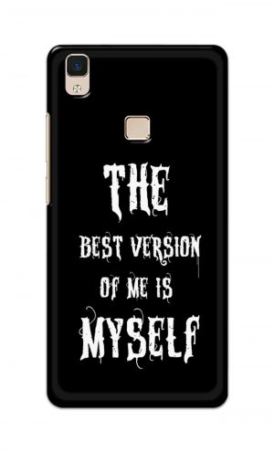 For Vivo V3 Ptinted Mobile Case Back Cover Pouch (The Best Version Of Me)