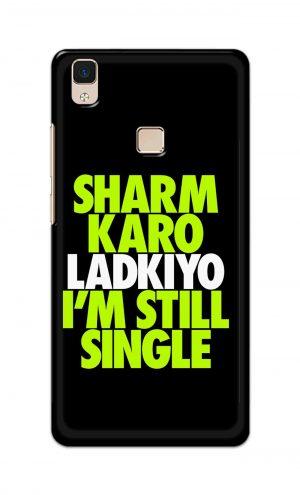 For Vivo V3 Ptinted Mobile Case Back Cover Pouch (Sharm Karo Ladkiyon)