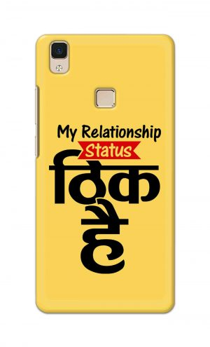 For Vivo V3 Ptinted Mobile Case Back Cover Pouch (My Relationship Status)