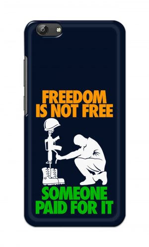 For Vivo Y69 Ptinted Mobile Case Back Cover Pouch (Freedom Is Not Free)