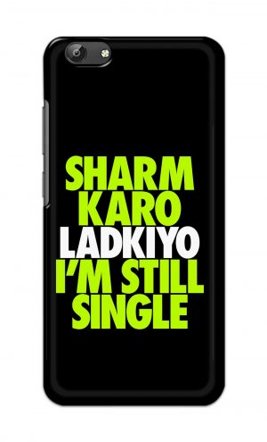 For Vivo Y69 Ptinted Mobile Case Back Cover Pouch (Sharm Karo Ladkiyon)