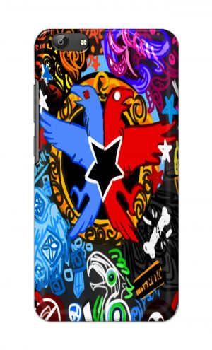 For Vivo Y69 Ptinted Mobile Case Back Cover Pouch (Colorful Eagle)