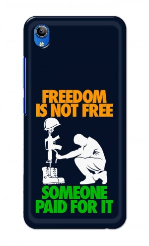 For Vivo Y91i Ptinted Mobile Case Back Cover Pouch (Freedom Is Not Free)